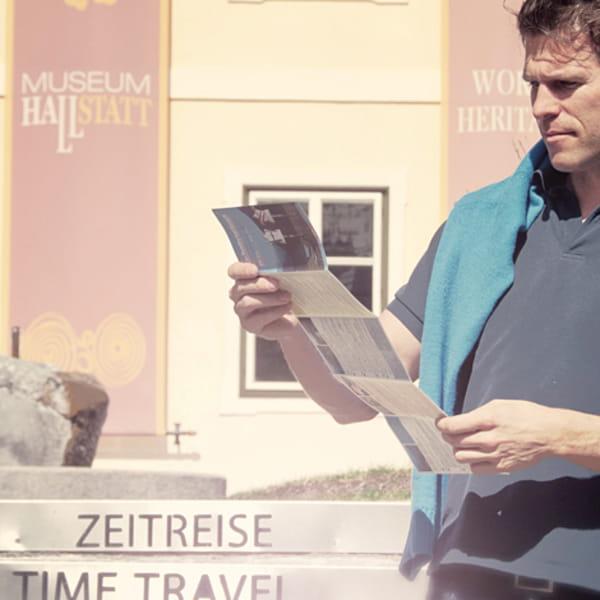 Mann in Hallstadt
